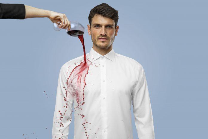 White dress shirt - Wine